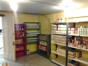 Inside of St. Eulalia's Food Pantry