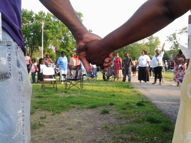 Joined Hands at Saturday's Prayer Vigil