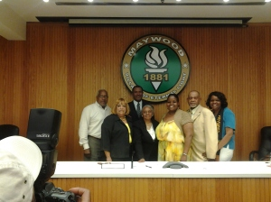 Mayor Perkins and the Board