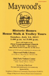 ADVERTISEMENT - MAYWOOD HISTORIC HOMES HOUSEWALK