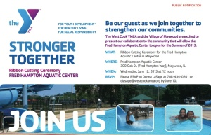 YMCA POOL OPENING NOTICE