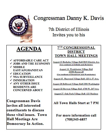 Congressman Davis' Suburban Town Hall Meetings