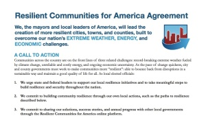 Resilient Communities for America Agreement