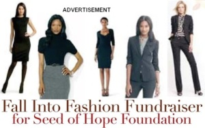 ADVERTISEMENT-FALL INTO FASHION FUNDRAISER
