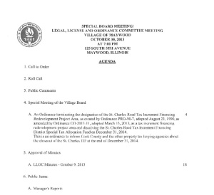 October 30 LLOC Meeting Agenda