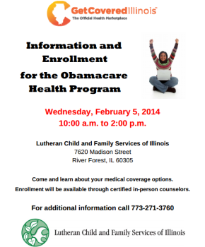 Obamacare Health Program Information and Enrollment, Wednesday, February 5th