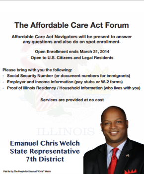 Rep. Welch To Host Affordable Care Act Forum @ Maywood Public Library, Saturday, March8th