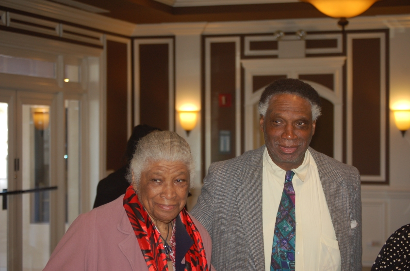 Maywood Park District Commissioner Bill Hampton and mother Iberia Hampton