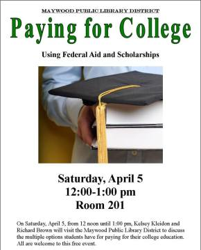 Maywood Library To Host Seminar On Paying For College, Tomorrow @1PM