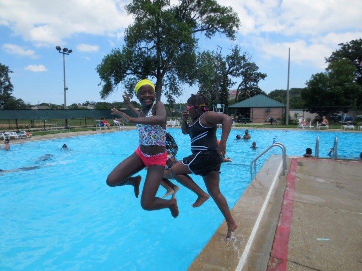 Kids Have Fun At Fred Hampton Pool