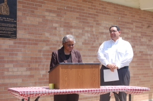 Mayor Perkins and Philip Jimenez
