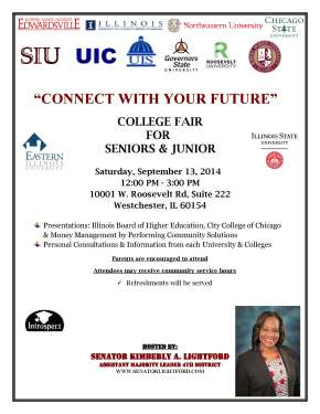 Sen. Lightford's 'Connect With Your Future' College Fair for HS Juniors & Seniors, September 13th @ 12 PM