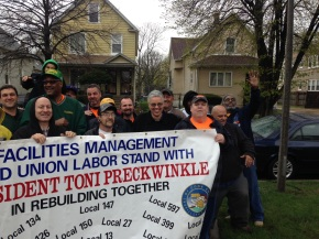Volunteers 'Rebuild' Twenty Four Maywood Homes; County Prez Preckwinkle Visits 11th Avenue to Inspect