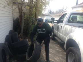 Fly-Dumping Focus of Maywood Police Officer's Village Pride Cleanup Efforts