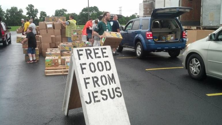Free Food from Jesus