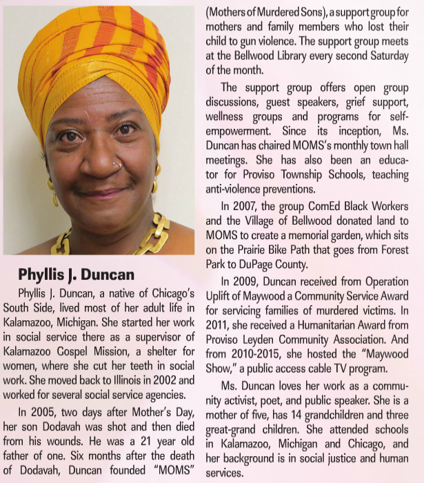 Phyllis Duncan Woman of Excellence