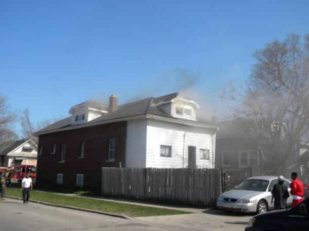 Structure fire in maywood