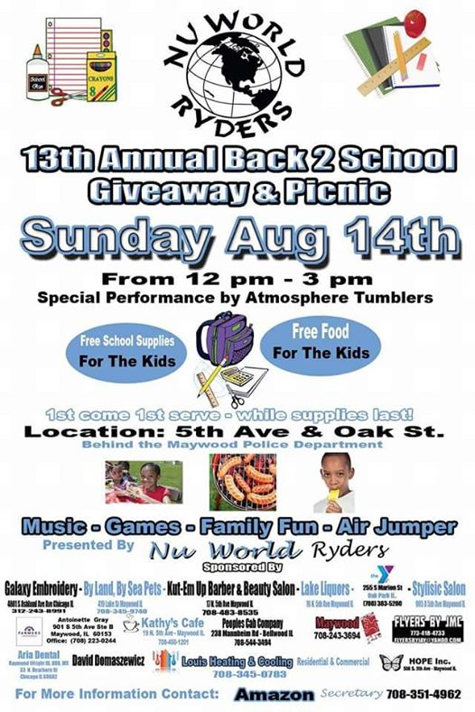 13th Annual back to school