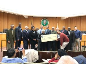 County Commish Drops Off $250K Check in Maywood for 18th Ave.Improvements