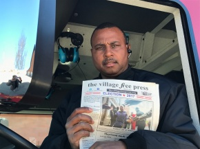 Around Town: Maywood Firefighter Fred Saffold on the Village's New FireEngine
