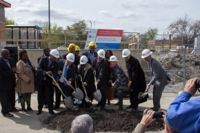 In Maywood, Officials Break Ground on $100M Railroad Project