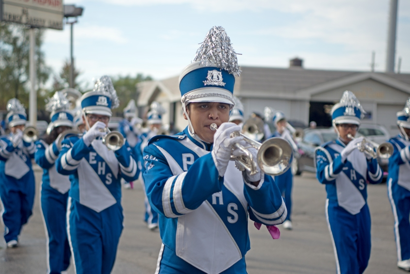Proviso East Homecoming Parade_Band plays