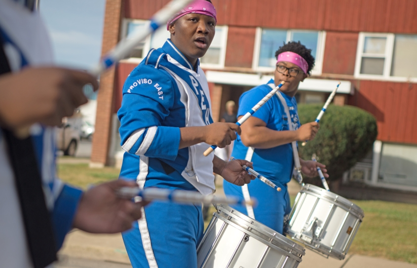 Proviso East Homecoming Parade_Drummers
