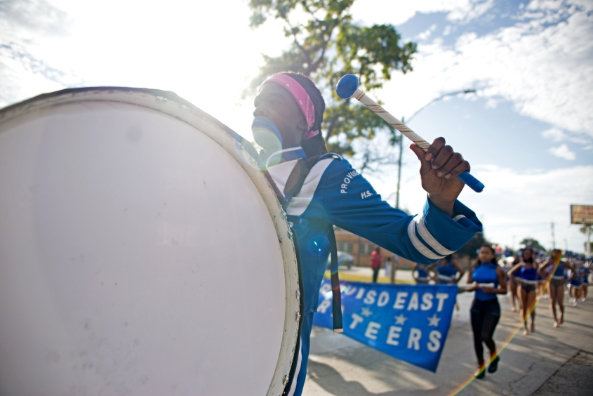 Proviso East Homecoming_Boy pounds drum