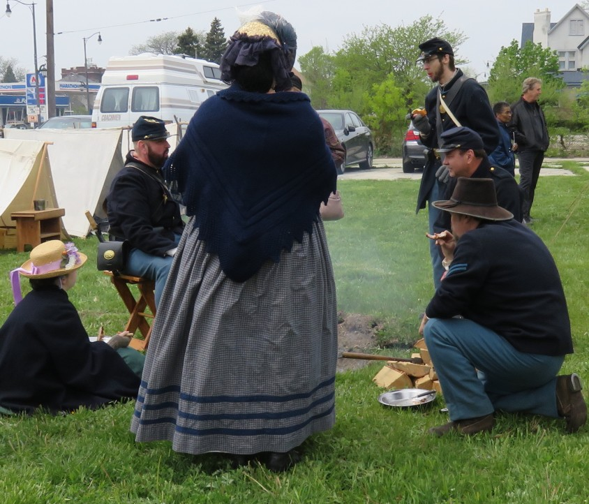 20180512 Civil War Living History - Soldiers, family - lunch