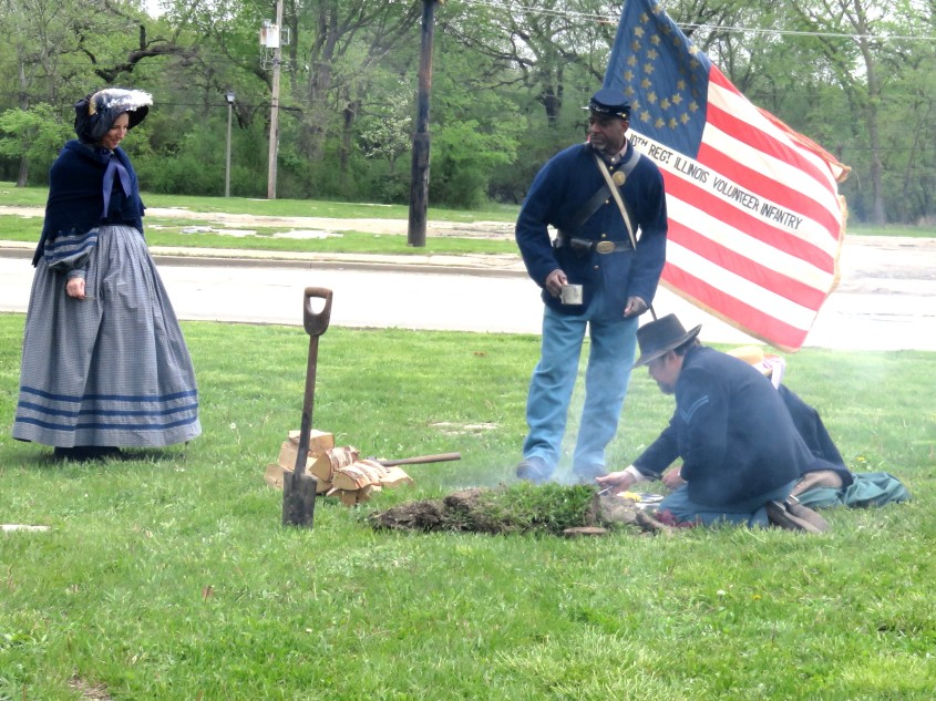 20180512 Civil War Living History - Soldiers, family